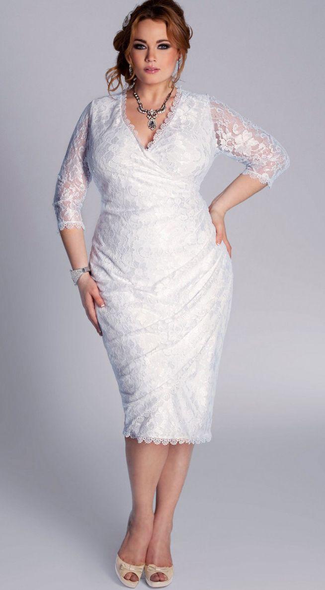 Платье ажурное для полных