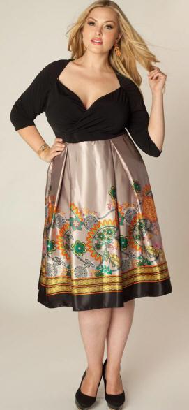 Цветная юбка для полных фото