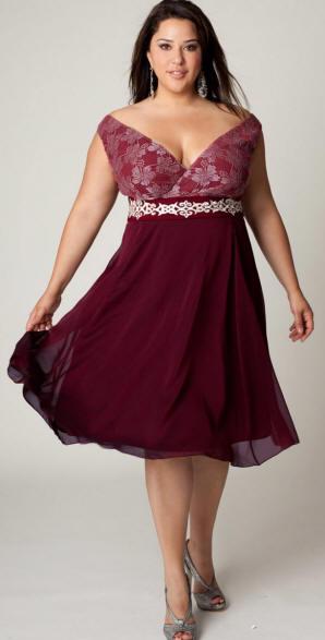 Бордовая юбка для полных фото