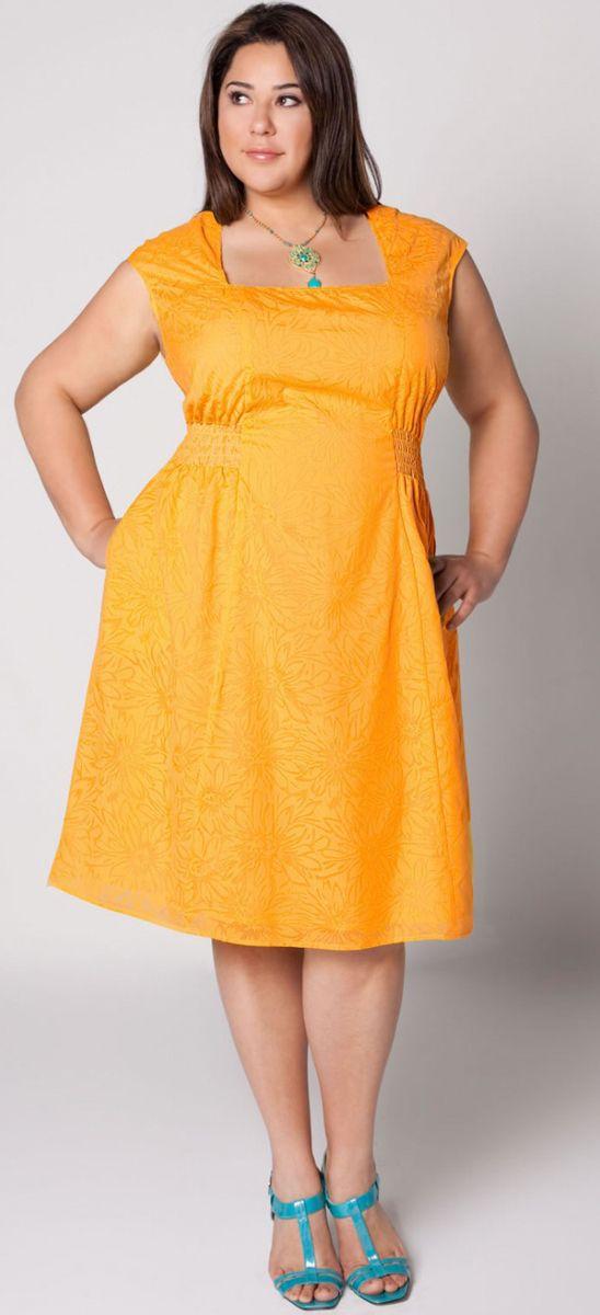 Желтое платье для толстых